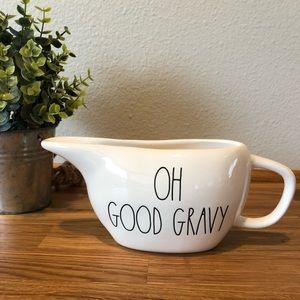 Rae Dunn OH GOOD GRAVY gravy boat